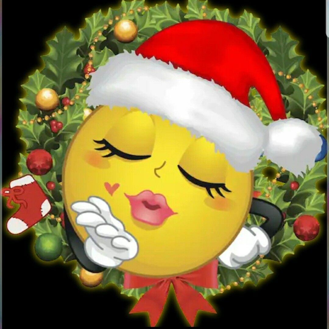 Happy new year 2019 Christmas emoticons, Emoji christmas