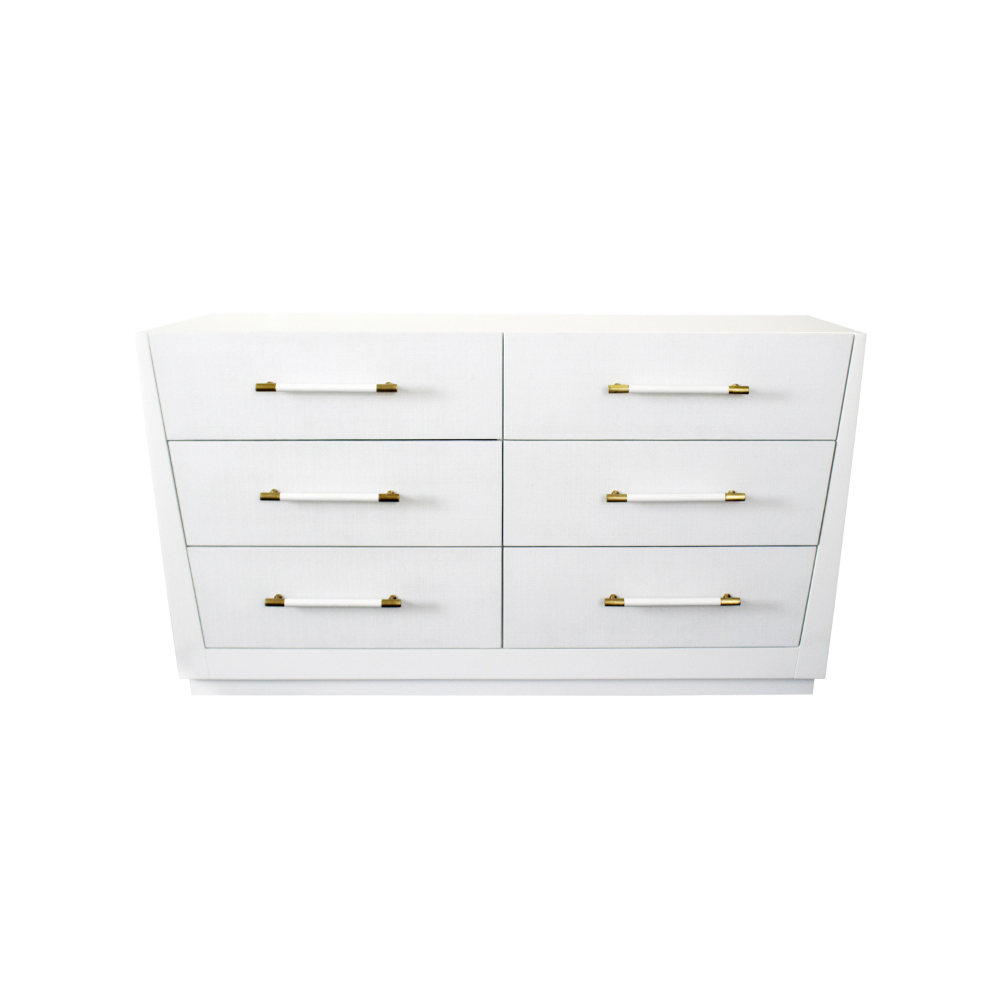 Madden 6 Drawer Chest In 2021 White Lacquer Dresser 6 Drawer Chest White Chests