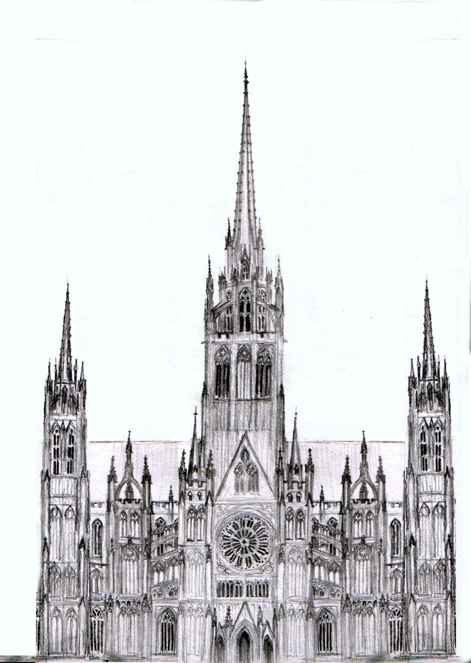 cathedral at chartres Google Search Illustration Pinterest