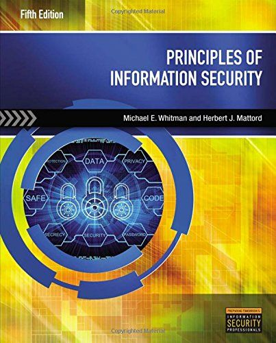 Principles Of Information Security 9781285448367 Cengage Learning Whitman Security