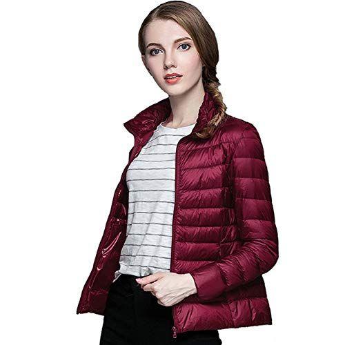 Veste cuir rouge fonce femme