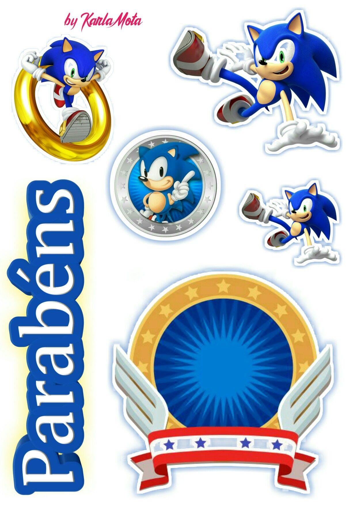 Topo Sonic Festas De Aniversario Do Sonic Aniversario Do Sonic Kit Festa De Aniversario
