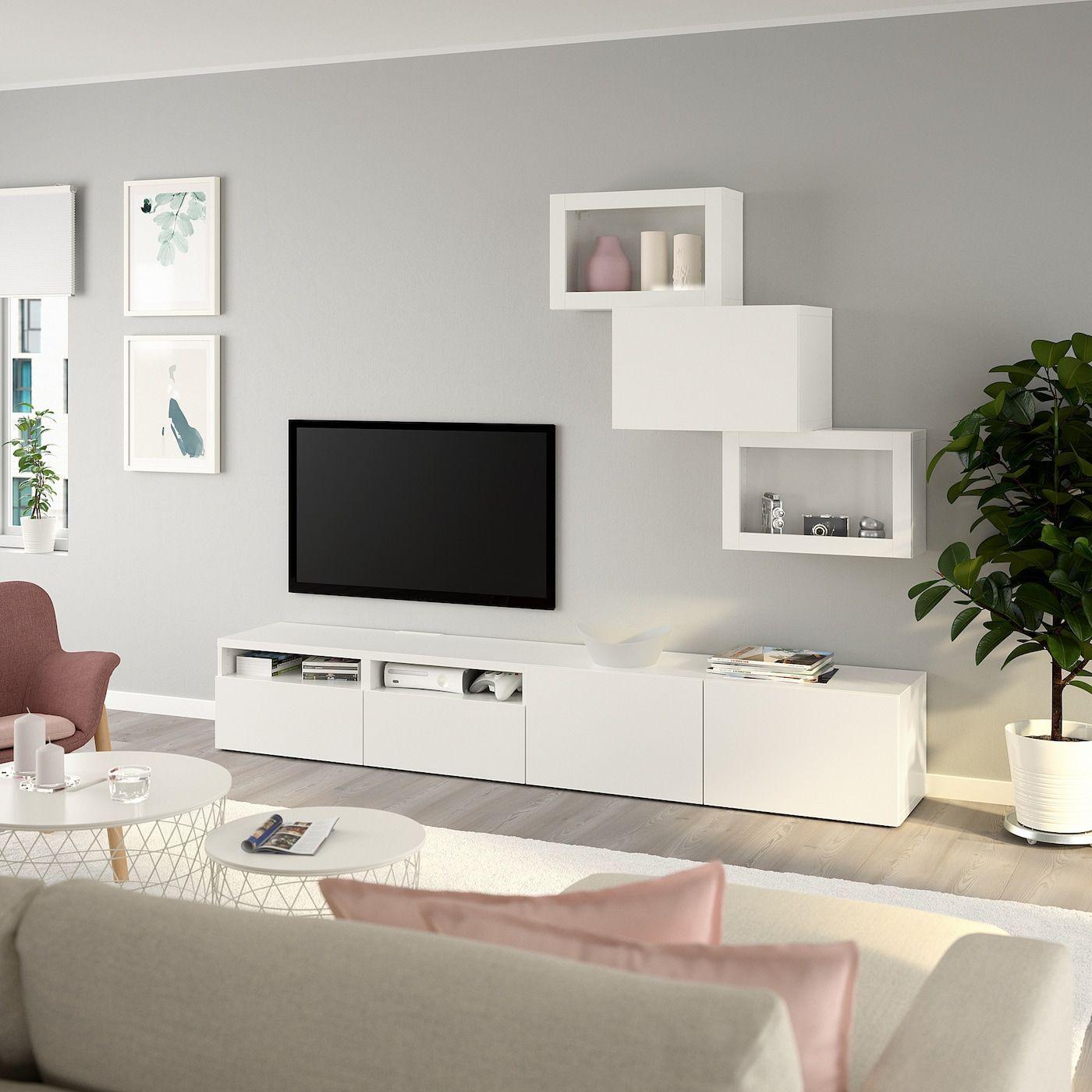 Besta Tv Komb Mit Vitrinenturen Weiss Lappviken Klarglas Weiss Ikea Osterreich En 2020 Deco Moderne Salon Deco Meuble Tele Meuble Living