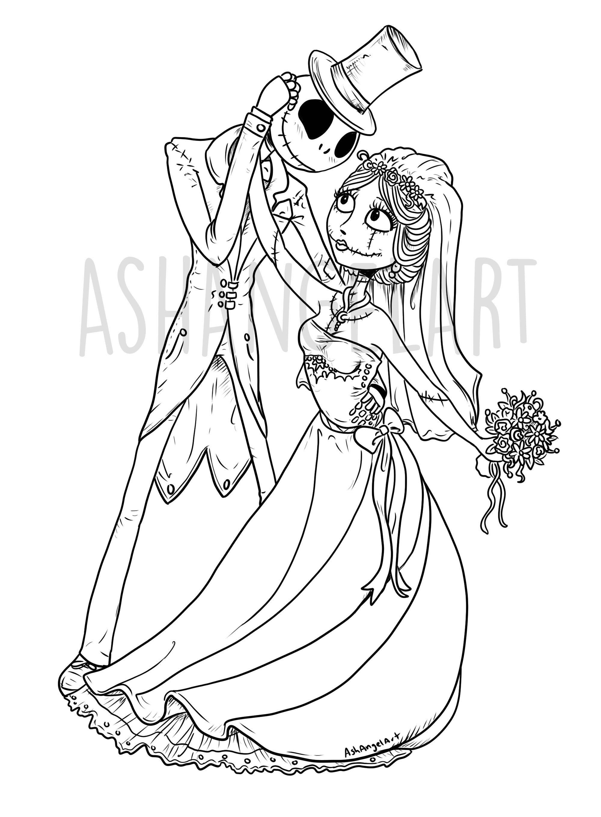 Pin On Nightmare Before Christmas Coloring Pages