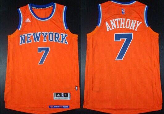 New York Knicks  7 Carmelo Anthony Revolution 30 Swingman 2014 New Orange  Jersey a1685e6b4