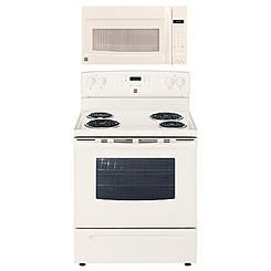 Kenmore 5 3 Cu Ft Electric Range Bisque Over The Range