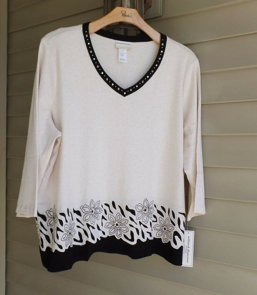 BNWT M/&S Collection Ladies Ivory White Floral Long Sleeved Top T-Shirt