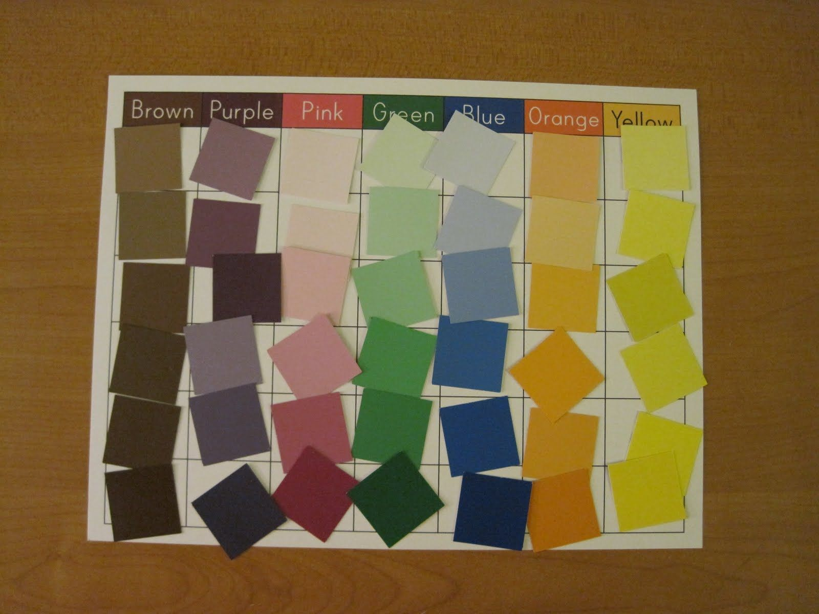 Great game for a center. They are paint samples. | Pre-K Centers ...