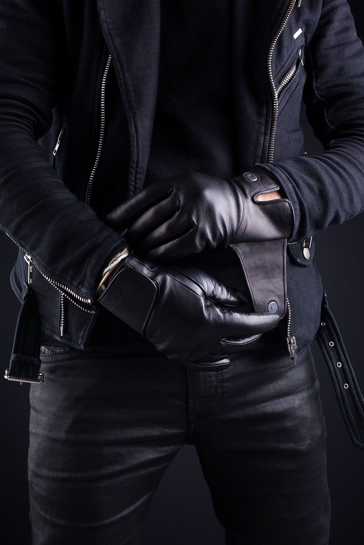 Vw leather driving gloves - Fancy Leather Touchscreen Gloves