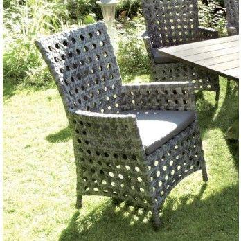 Consul Garden Korsika Geflechtsessel grau - Stühle - Gartenmöbel - outdoor küche selber bauen
