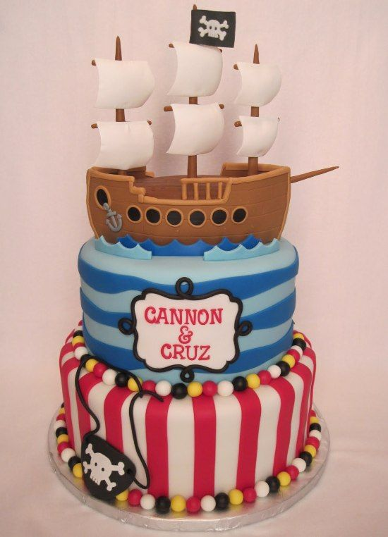 Pirate Ship Cake Photos Pirate Ship Birthday Cake Pinterest