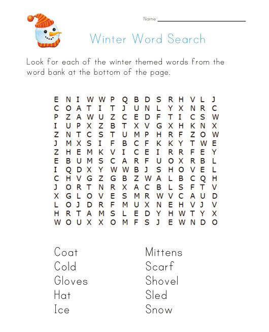 winter word search word searches puzzles etc for kids winter word search winter words. Black Bedroom Furniture Sets. Home Design Ideas