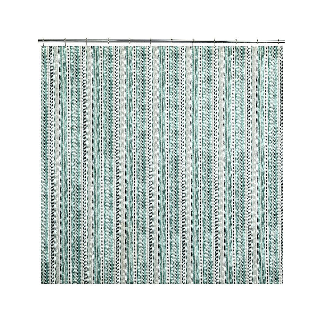 Pearl Strings Shower Curtain | Crate and Barrel | Bathroom tile ...
