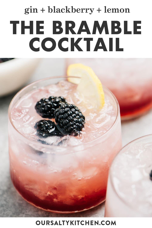 Bramble Cocktail Gin And Raspberry Recipe Bramble Cocktail Raspberry Gin Cocktail Recipes Tequila