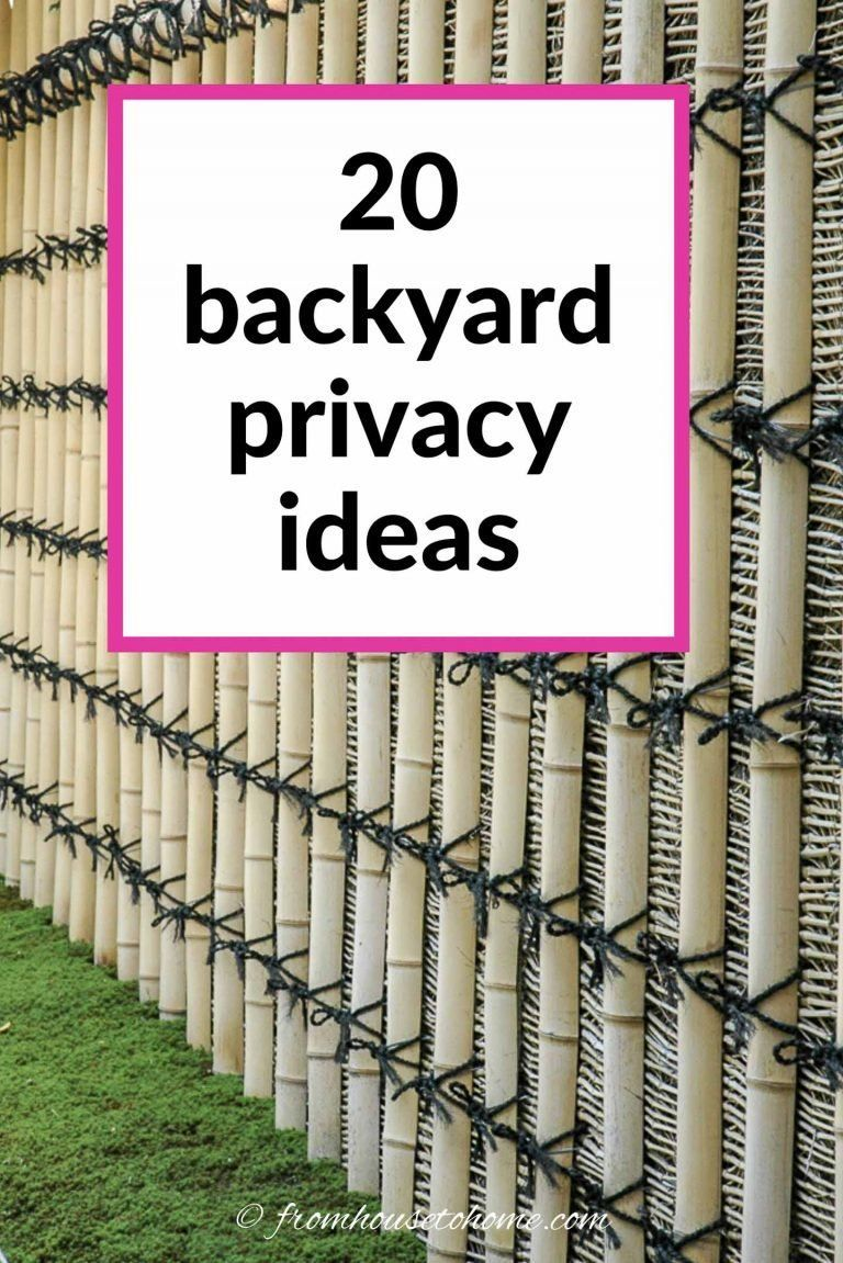 20 Backyard Privacy Ideas For Screening Neighbors Out Backyard Privacy Garden Privacy Backyard