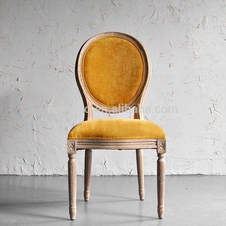 Klassieke Houten Fauteuil.Vintage Franse Kant Stof Gestoffeerde Stoel Nieuwe