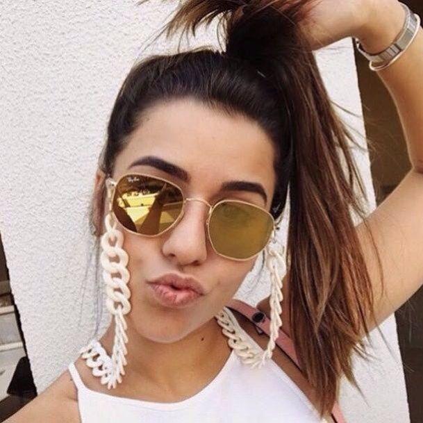 Corrente para óculos a queridinha da estação!!!  ➡Venda Online(31)99380-2942  Pag Seguro ✈️ Enviamos para todo Brasil e Exterior  ✔️Av dos Bandeirantes 1299 loja 29 Mangabeiras
