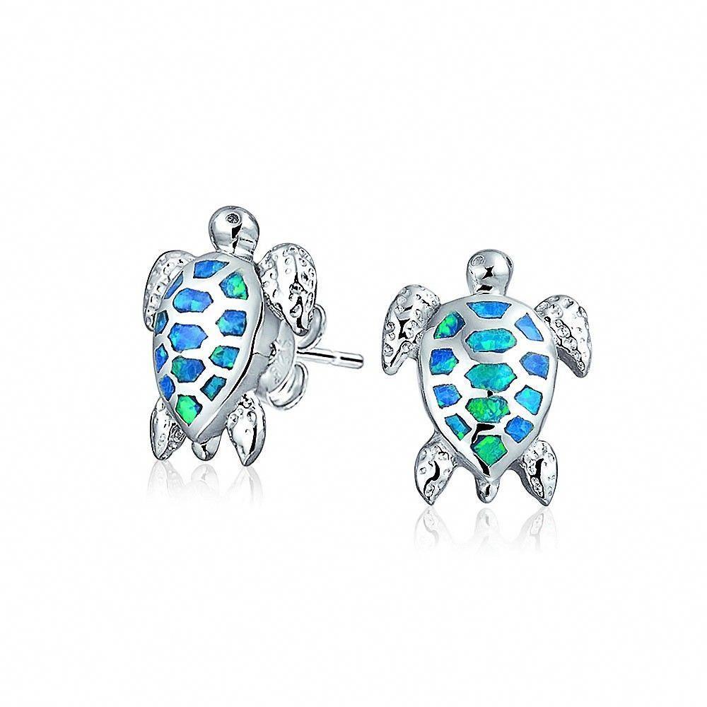 Nautical Jewelry Dainty Turtle Earrings Ocean 925 Sterling Silver Turtle Stud Earrings