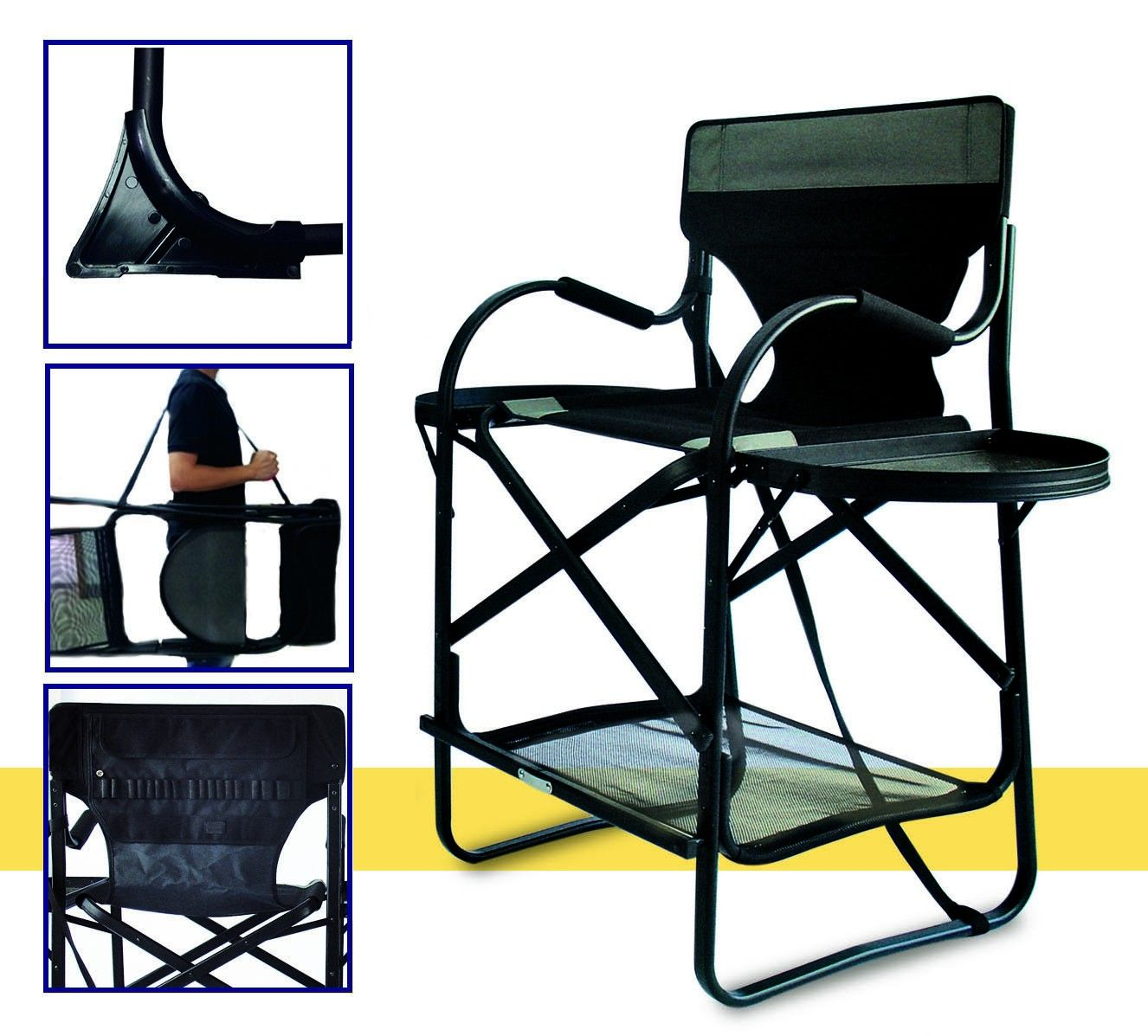 Portable makeup chair - Tuscany Deluxe Pro Makeup Chair Short 25