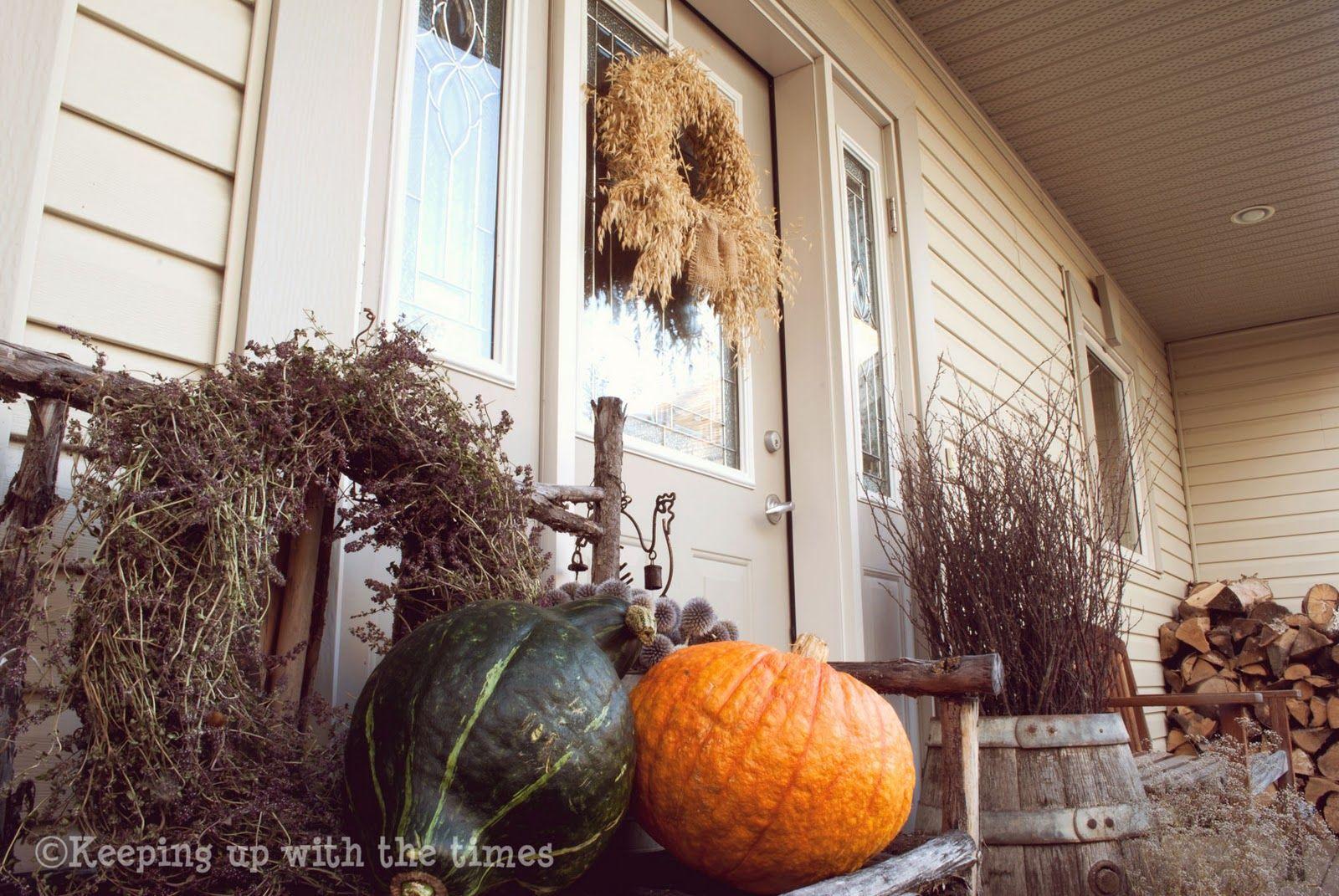 Rustic Fall Porch Beautiful Home Seasonal Porch Ideas