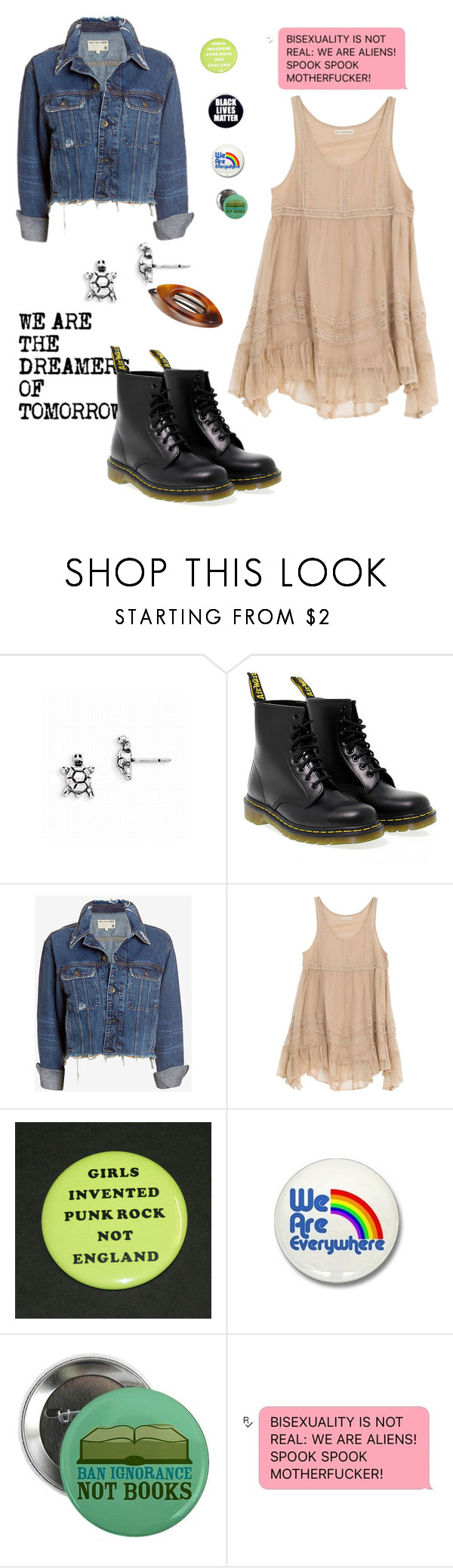 """John Laurens"" by rebellious-ingenue ❤ liked on Polyvore featuring Rachel, Dr. Martens, rag & bone/JEAN, Billabong and France Luxe"