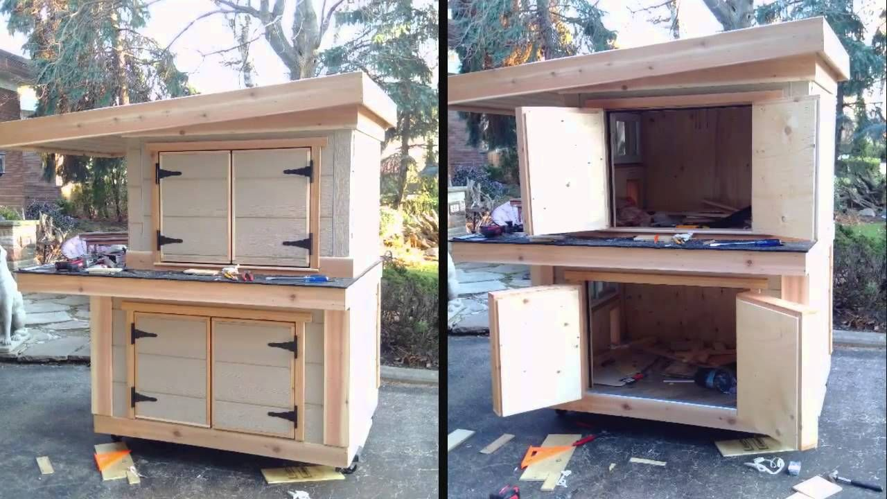 Insulated Winter Cat House For