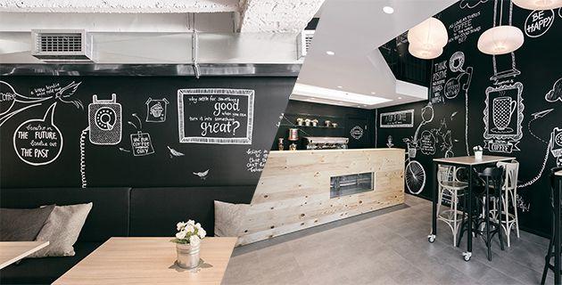 Stock coffee cafeterias modernas dise o de cafeter a y for Decoracion cafeterias modernas