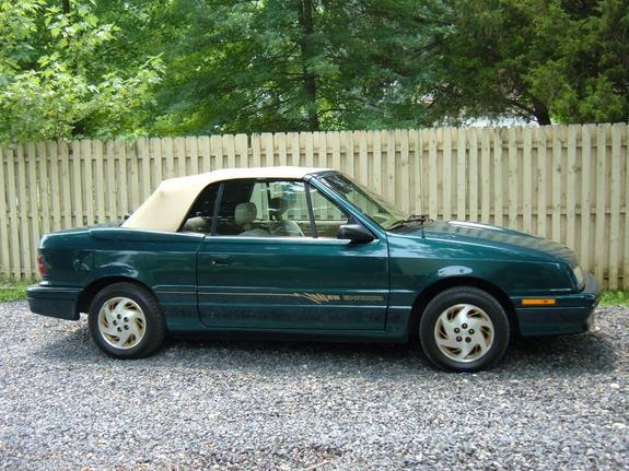 1993 Dodge Shadow Es Convertible Green Metal21887 S