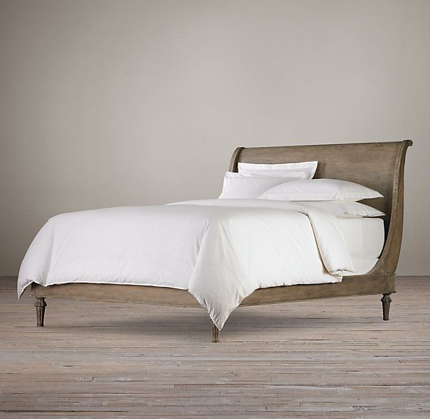 Restoration Hardware Empire Rosette: Sleigh Beds Without Footboards