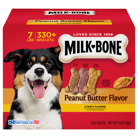 Milk Bone Peanut Butter Flavor Dog Treats 7 Pounds Walmart Com Milk Bone Peanut Butter Dog Treats Peanut Butter Dog Biscuits
