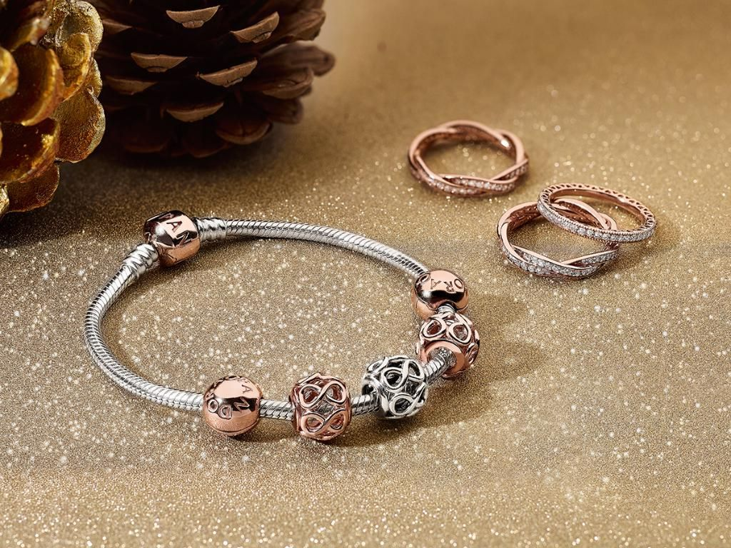 Set autumn ablaze with PANDORA Rose jewelry and layer