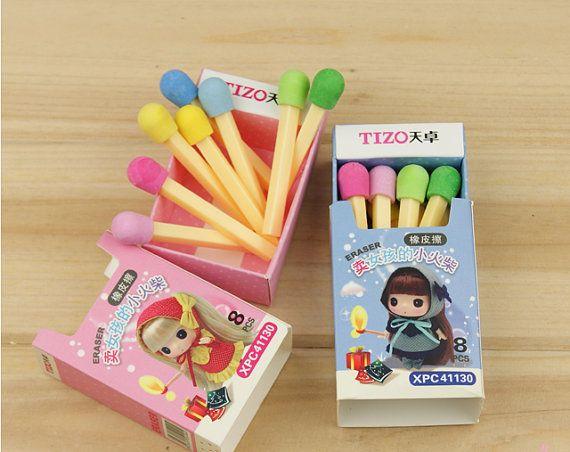 Novelty Stationery Eraser Cute Matches