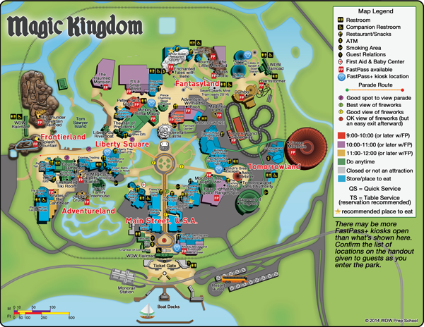 Touring Plans Magic Kingdom Map