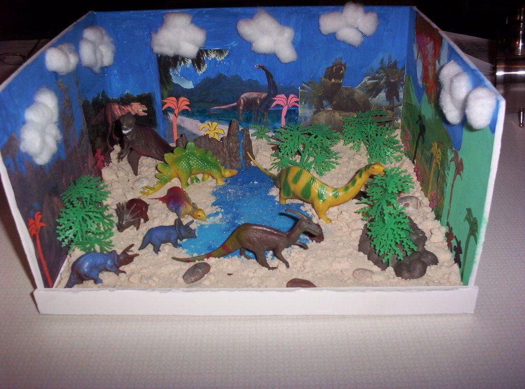 Kids Diorama With Details: Dinosaur Diorama (Dinorama) By Talkingcamara.deviantart