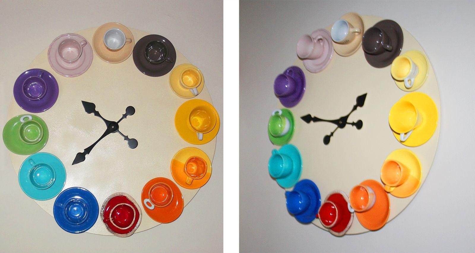 L\'ora... del caffè: un orologio da parete con tazzine - Cose di Casa ...