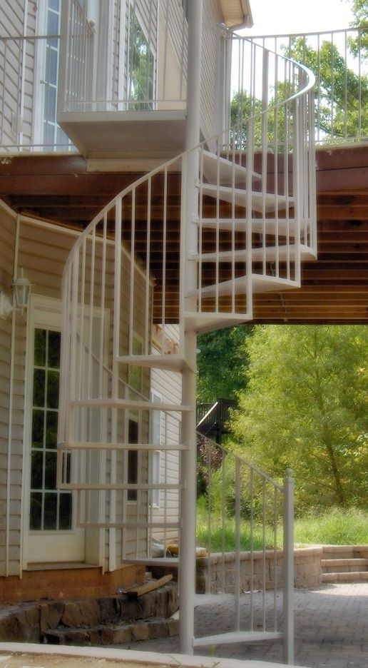 Best Affordable Wrought Iron Spiral Stair Cases White Spiral 640 x 480