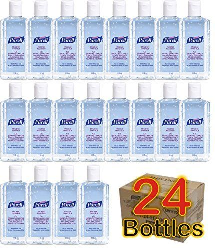 24 X Purell Hygenic Hand Sanitizer Gel Rub 118ml 4oz Personal Pump