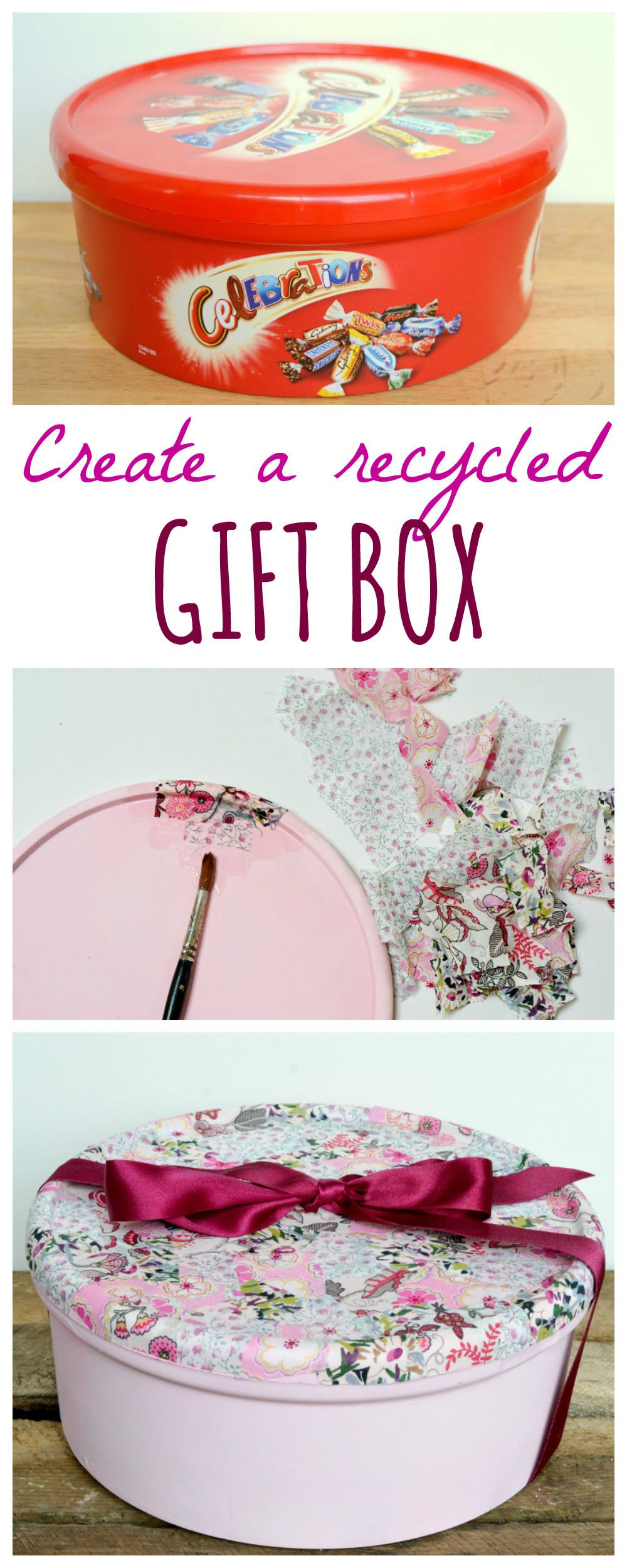 Recycle sweet tins into gift boxes #recycledcrafts