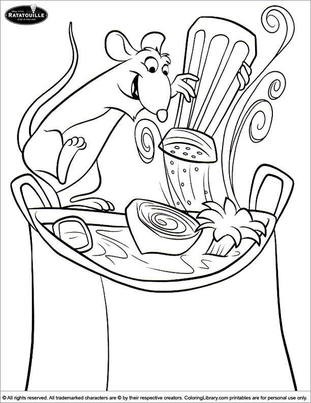 Ratatouille Coloring Page Cartoon Coloring Pages Disney Coloring Pages Coloring Pages