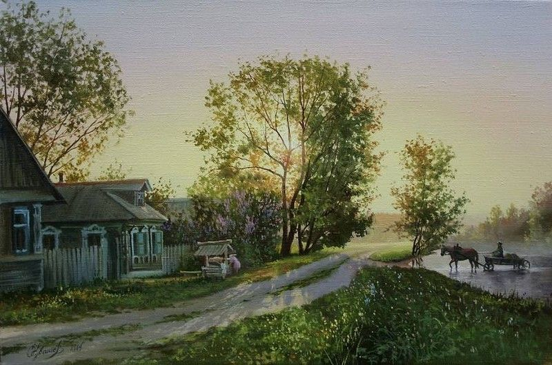 Белорусский художник Олег Чувашев. Нежные пейзажи и натюрморты