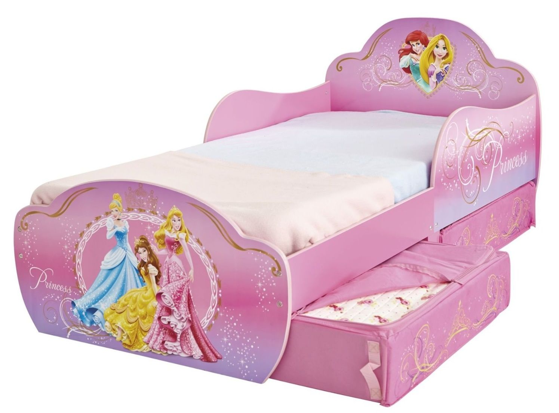 Cama de princesas con colch n y almohada 509dsn for Decoracion de cuartos para ninas frozen