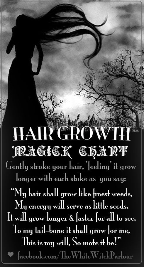 Hair Growth Magick Chant (Printable Spell Page) – Witches Of The