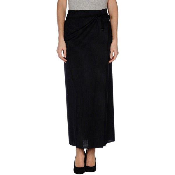 Maison Margiela Long Skirt ($280) ❤ liked on Polyvore featuring skirts, black, maxi skirt, black maxi skirt, wool maxi skirt, wool skirt and long black skirt