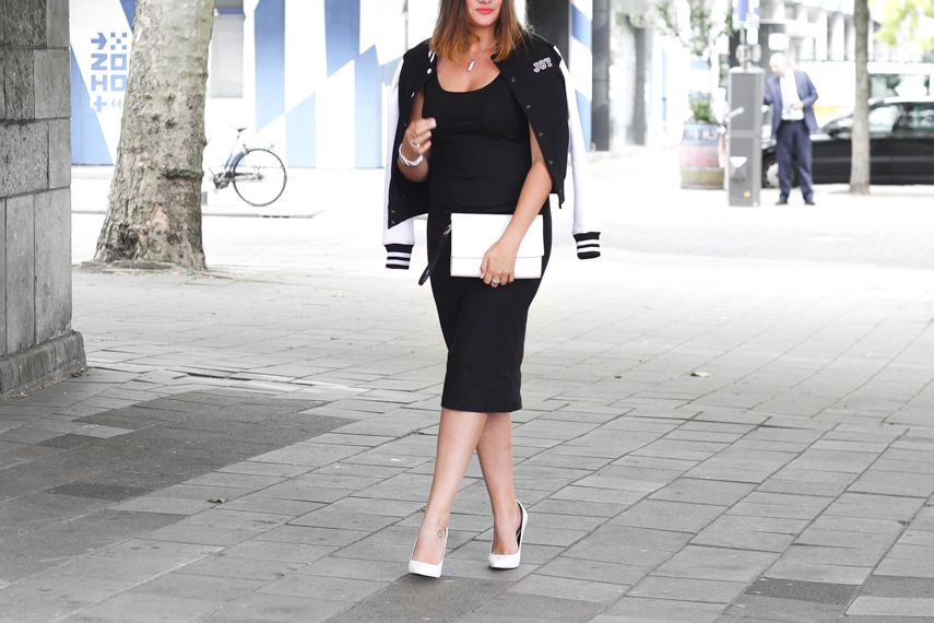 Wearing a special jacket with a meaning.  Custom made jacket, h&m dress, Zara clutch, Primark heels.