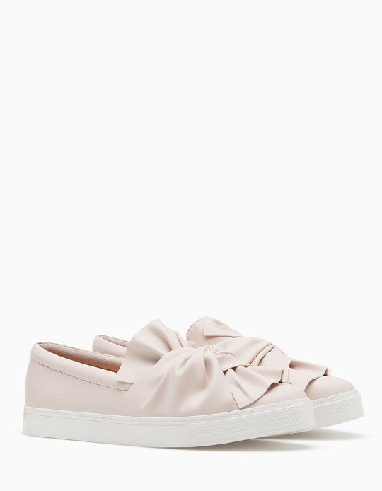 Slip ons with bow trim - All