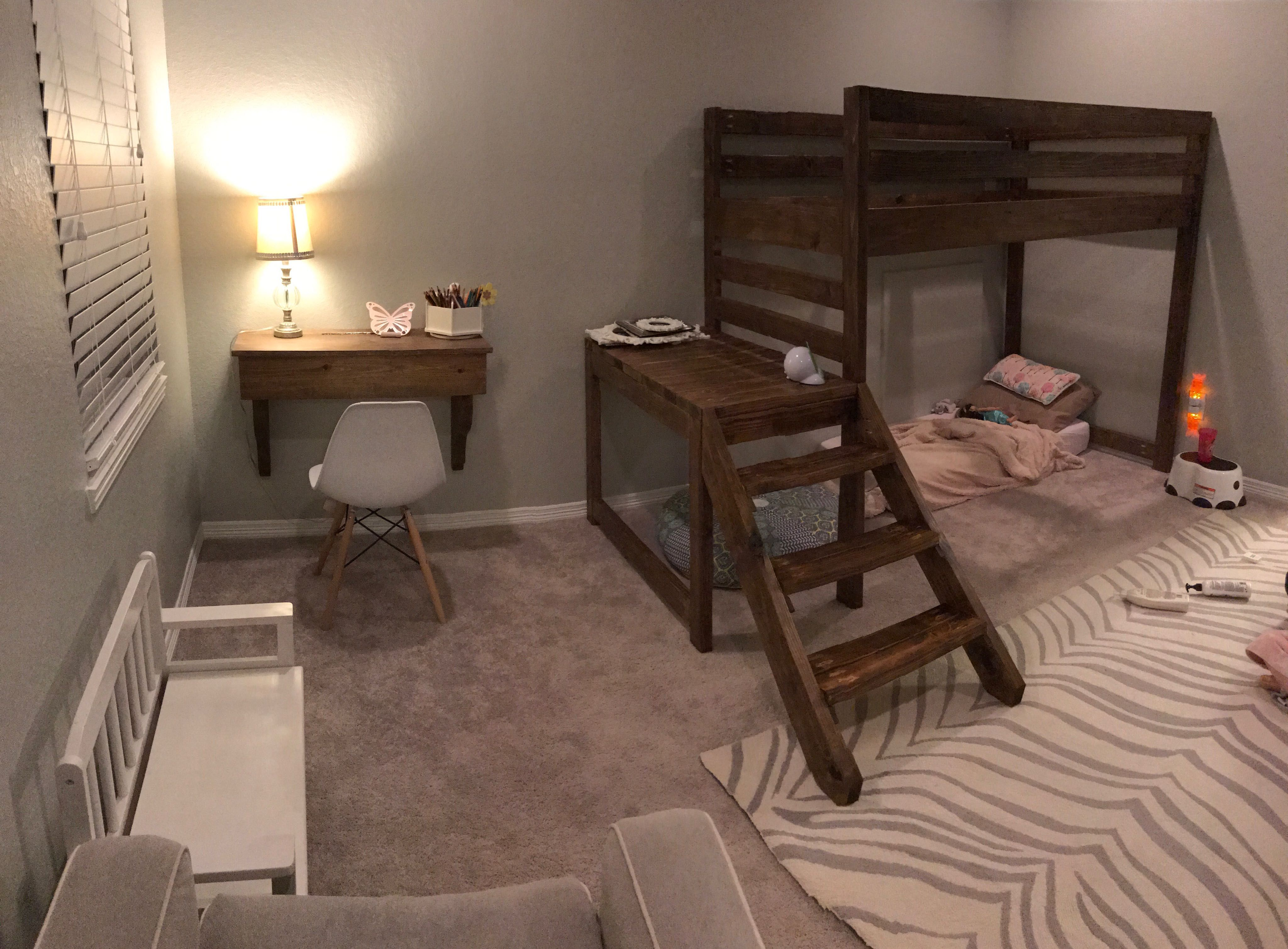 Ana White Loft Bed With Side Rail Diy Projects White Loft
