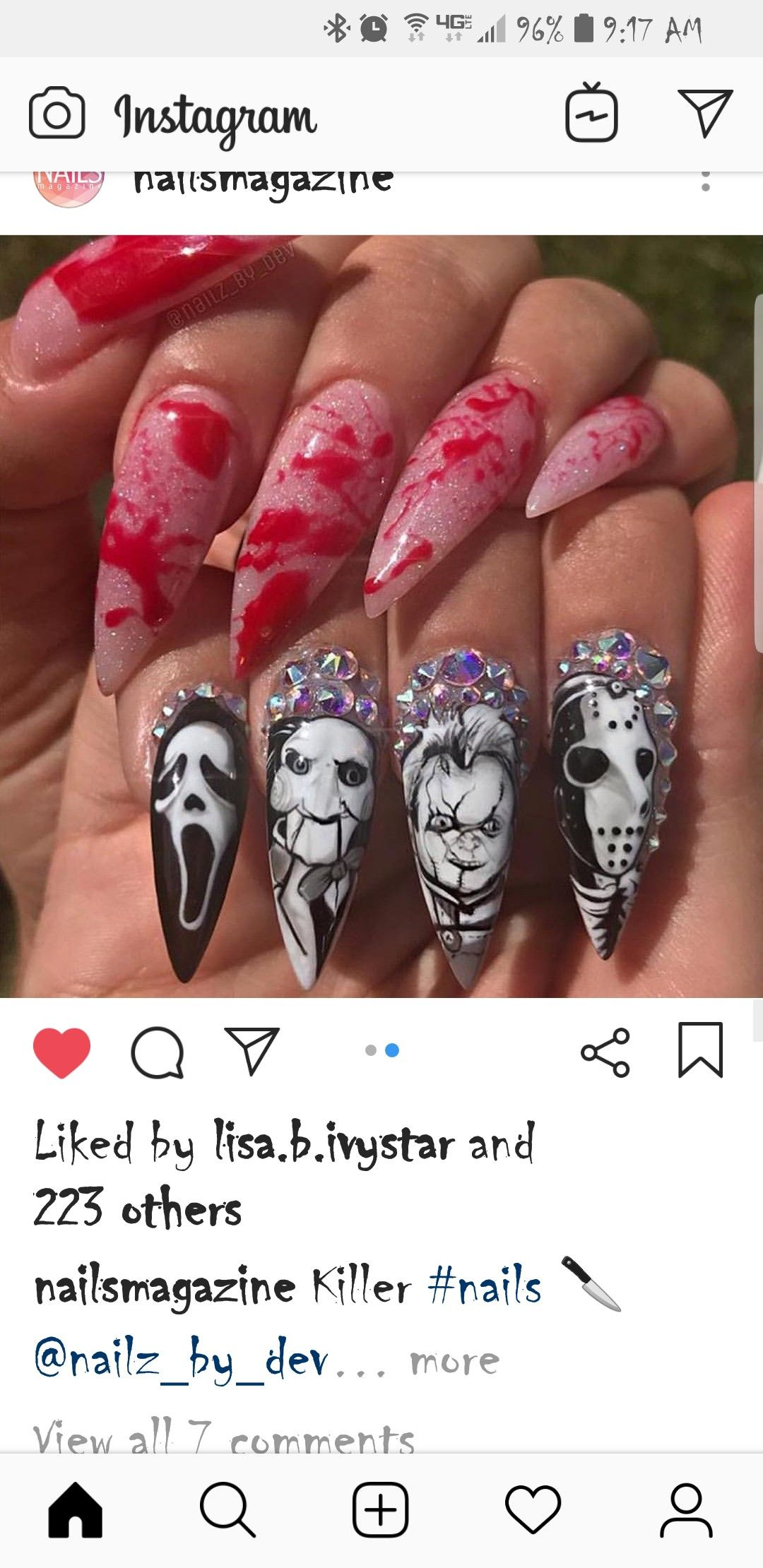 Pin by ♥☆MAL★♡ on Halloween Nail Art | Halloween nails ...
