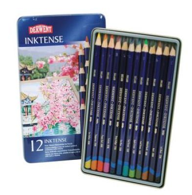 Derwent Inktense Pencils 12 Piece Tin Set Watercolor Pencils