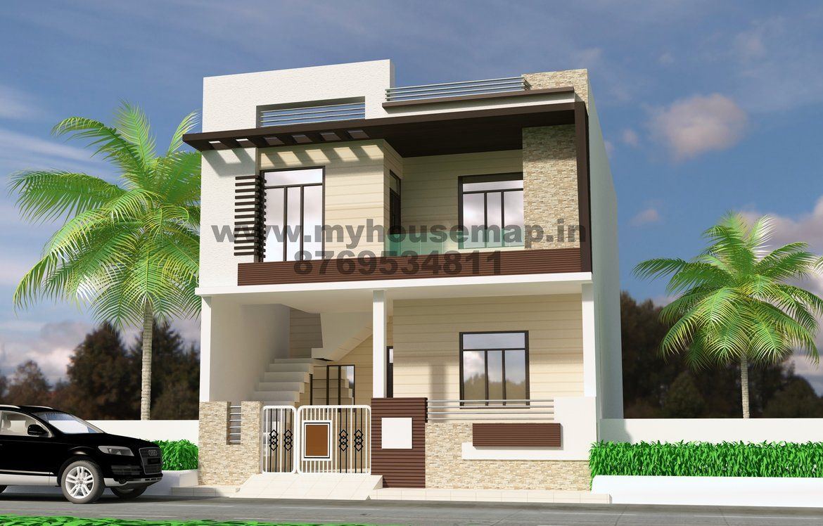 Front Elevation Designs For Small Houses 20 40 Small Modern House Plans Modern House Plans House Front Design