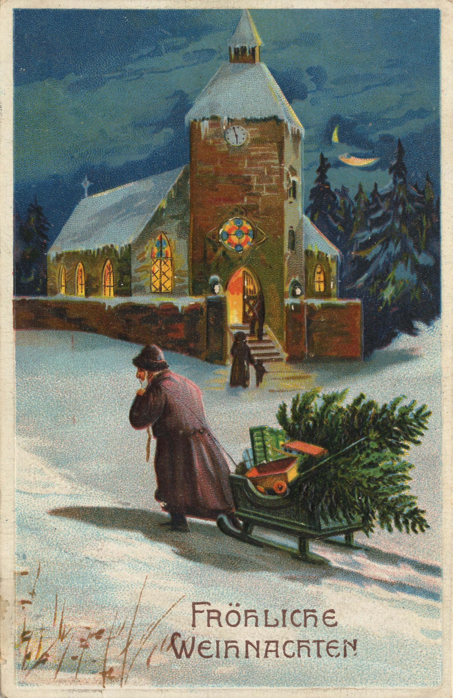 antique german christmas postcard christmas time is here pinterest german christmas. Black Bedroom Furniture Sets. Home Design Ideas